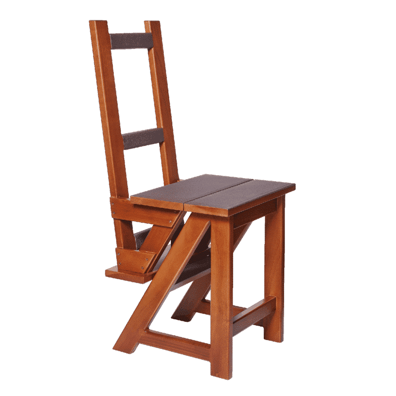 chair transformable step ladder