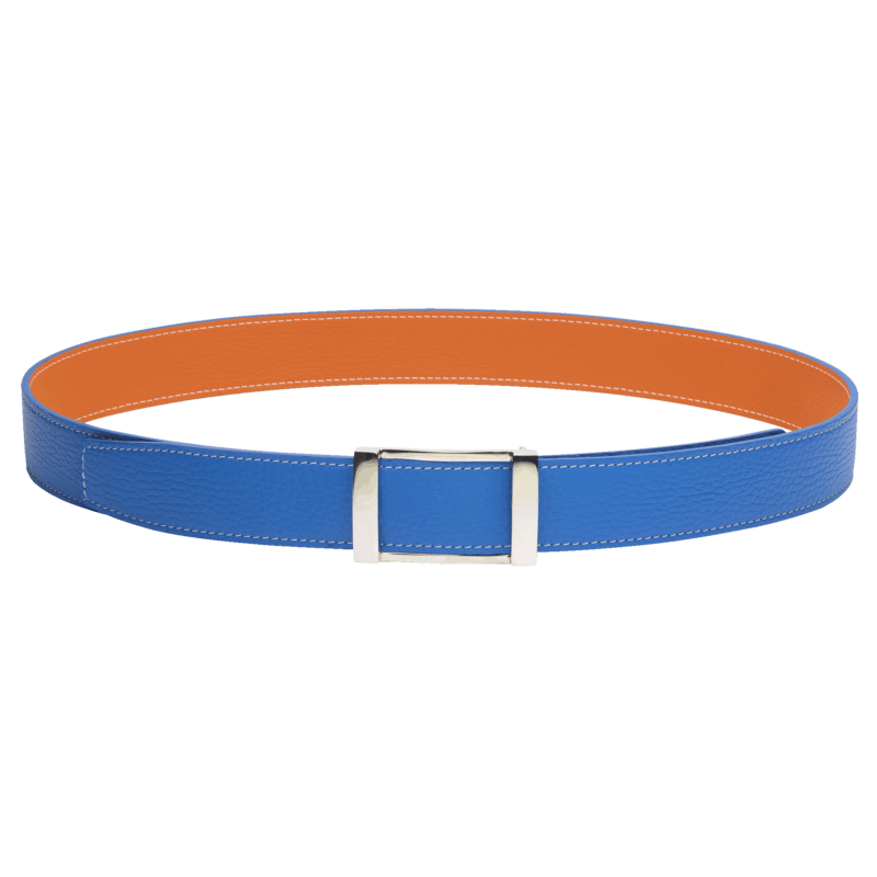 Reverso Belt - Blue Azur/Orange