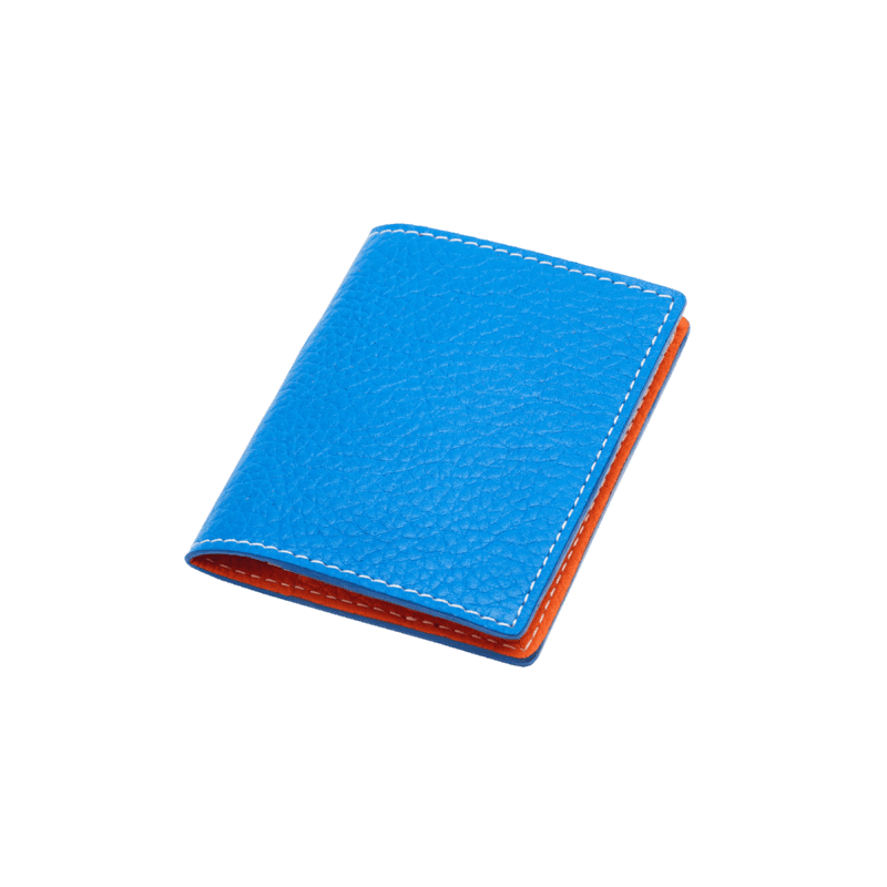 Volte face card holder - blue azur/orange