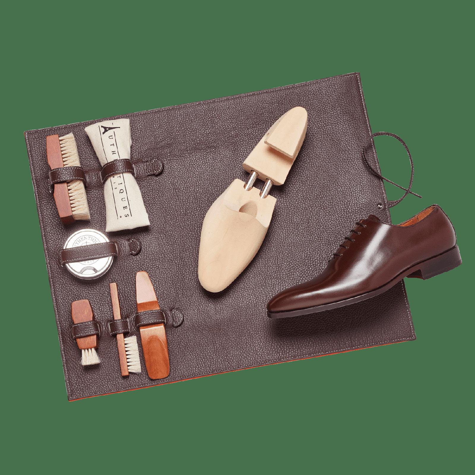 tapis cireur en cuir